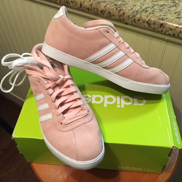 133fb3ba1ea8bc adidas Shoes - Adidas Neo Courtset Sneakers in blush pink